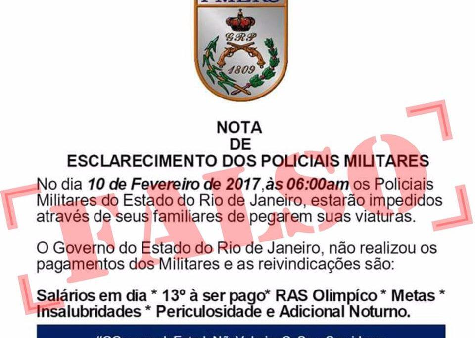 Falso documento divulgado nas redes sociais. Foto: Divulgação