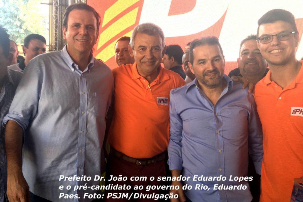 Dr. João com o senador Eduardo Lopes e o pré-candidato ao governo do Rio, Eduardo Paes 28072018 03
