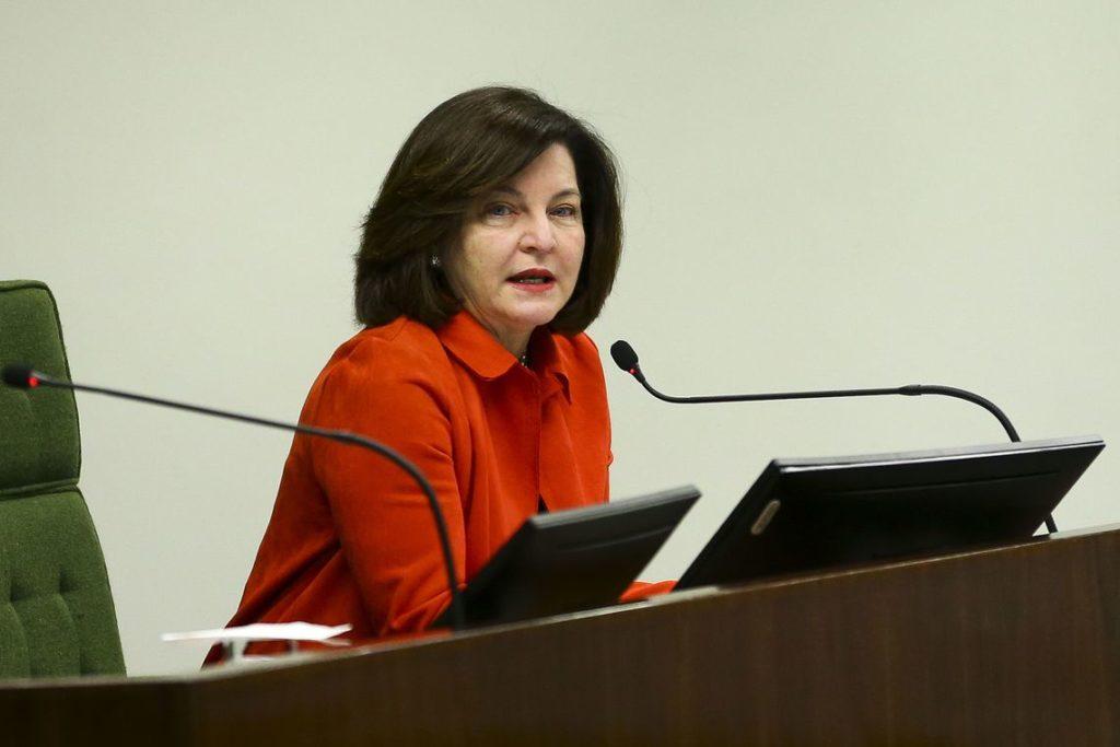 """A procuradora-geral da República, Raquel Dodge, durante a palestra """"A Construção do Brasil, da Independência à República"""", no STF."""