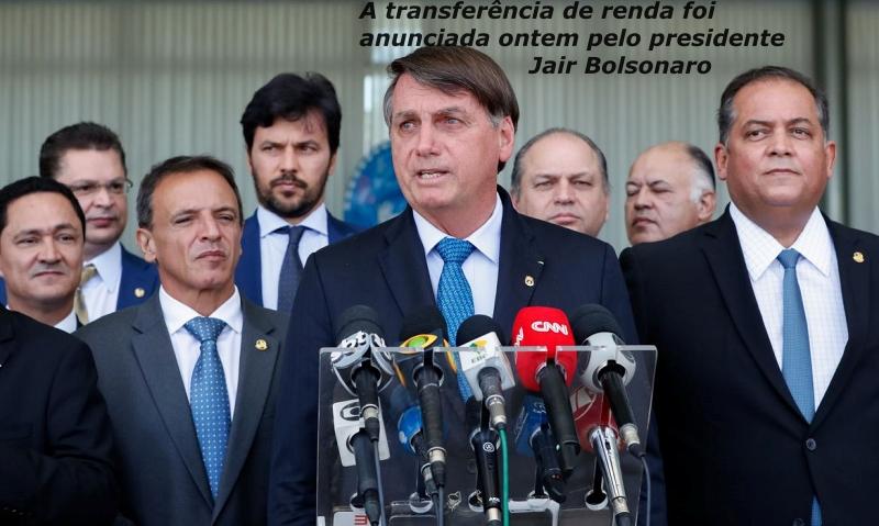 Presidente da República, Jair Bolsonaro, durante coletiva de imprensa após reunião no Palácio da Alvorada