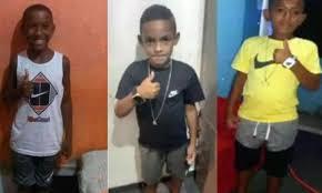 Lucas Matheus, de 8 anos, Alexandre da Silva, 10, que são primos, e Fernando Henrique, 11, foram vistos pela última vez em 27 de dezembro/Reprodução/Redes sociais