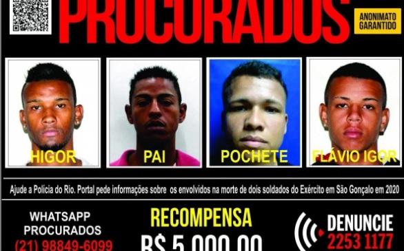 Higor, André, Douglas e Flávio são considerados foragidos da Justiça/Divulgação