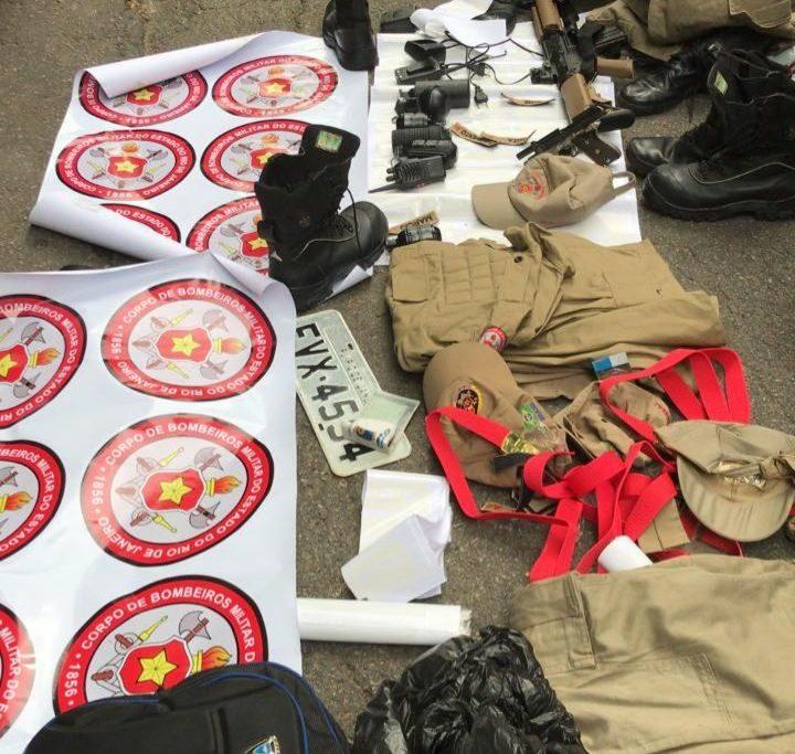 Serviço Reservado dos Bombeiros descobriu material da corporação com criminosos/Reprodução