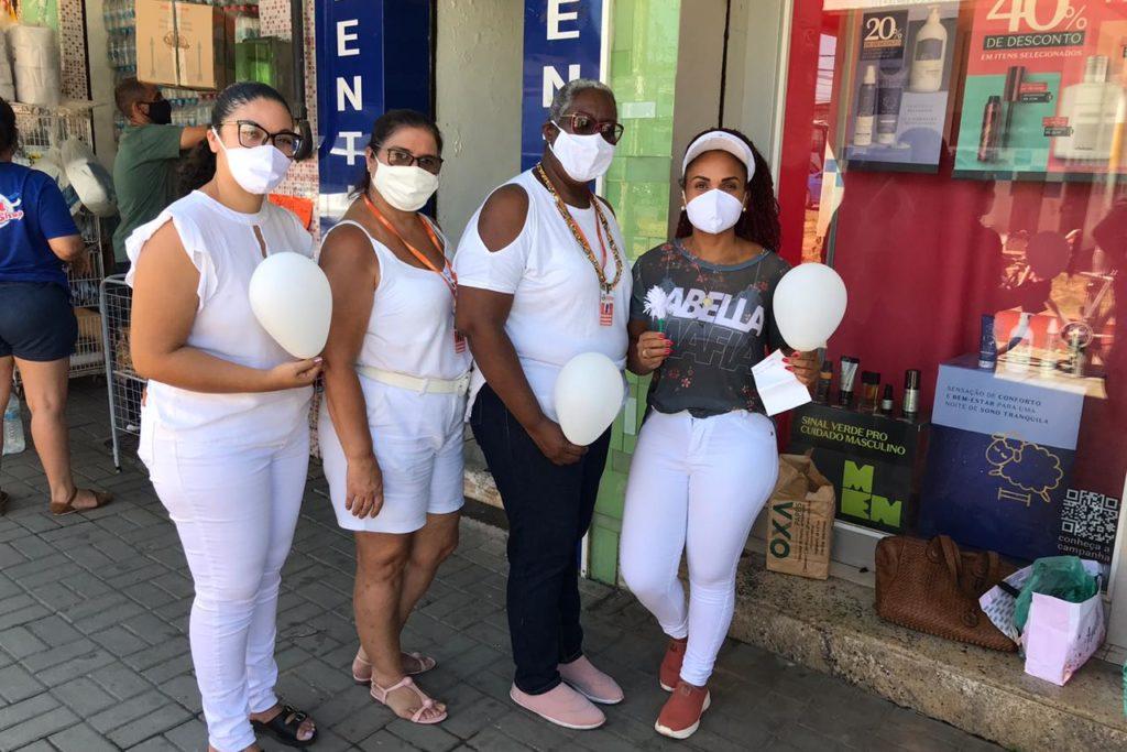 Equipes da Saúde Mental fizeram campanha de conscientização na Praça Eliaquim Batista/Divulgação/PMBR