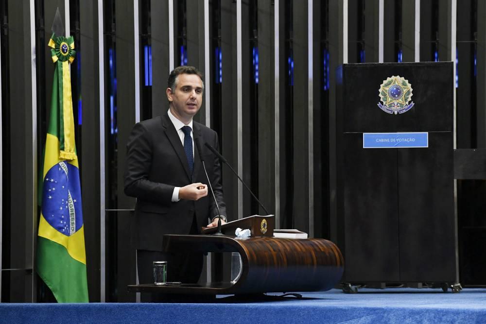 """Rodrigo Pacheco: """"Eu vou ter um apelo muito grande à democracia, à convergência""""/Agência Senado"""