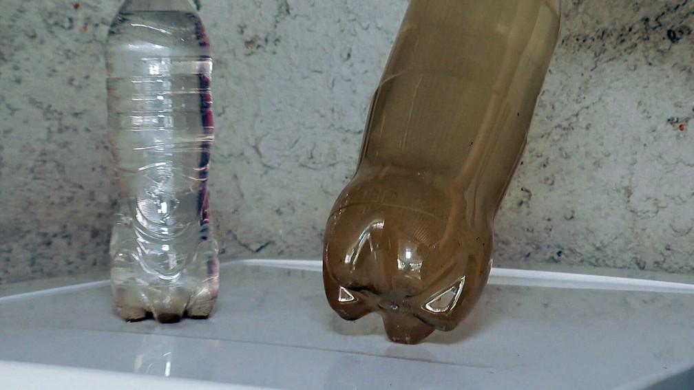 Água turva em torneiras do Rio/Reprodução