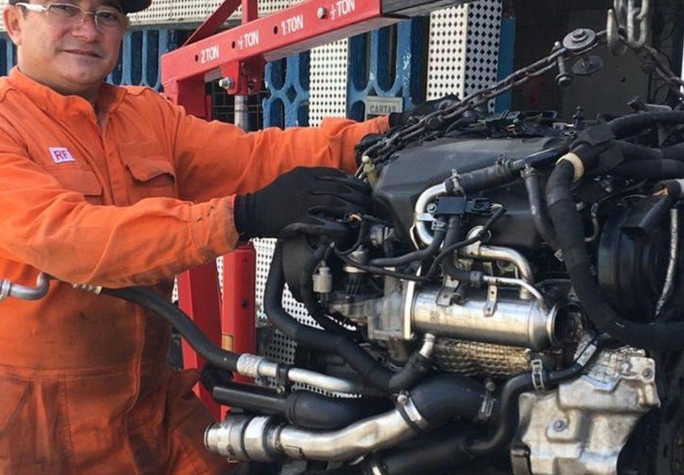 O corpo do mecânico Cláudio Vieira foi o último dos grupo a ser localizado e reconhecido/Reprodução