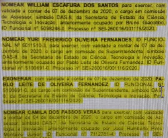 Publicação da nomeação Yuri Frederico Oliveira Fernandes/Reprodução