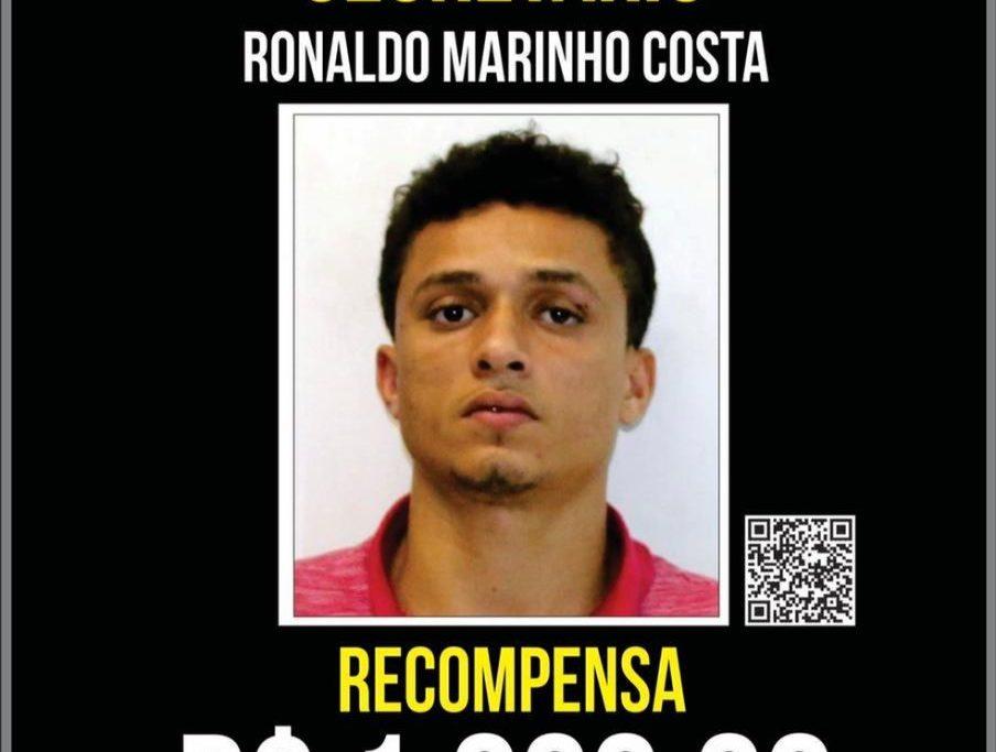 Portal dos Procurados oferecia recompensa de R$ 1 mil pela captura do Ronaldo/Divulgação/Polícia Civil