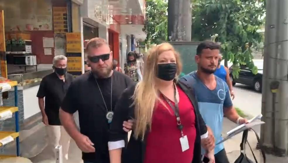 Thaís Franco Fontes, 28, que trabalha como supervisora no grupo, também foi presa/Divulgação