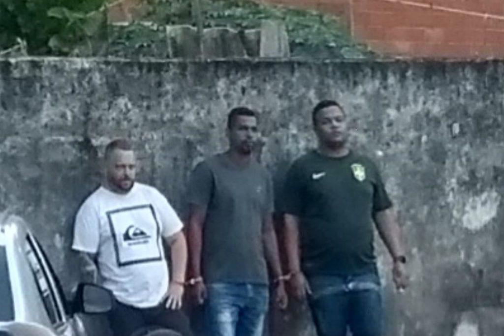 Os três criminosos foram presos em flagrante/Reprodução/Redes sociais