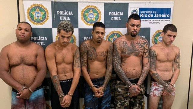 David Lins, o Duas Bocas, chefe do tráfico da Providência, foi preso com outros quatro criminosos/Divulgação/PCERJ