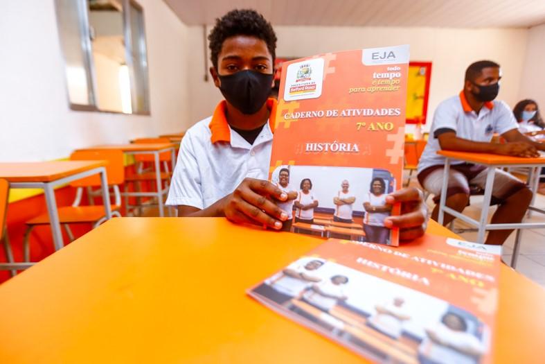 Jeremias Souza Alves está cursando o sexto ano. Ele sonha em concluir os estudos para seguir carreira militar/Rafael Barreto/PMBR