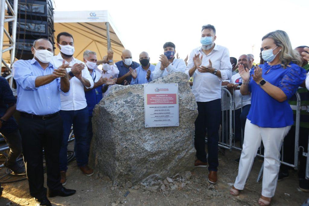 Waguinho, Cláudio Castro, Canella e Daniela inauguram a pedra fundamental/Rafael Barreto/PMBR