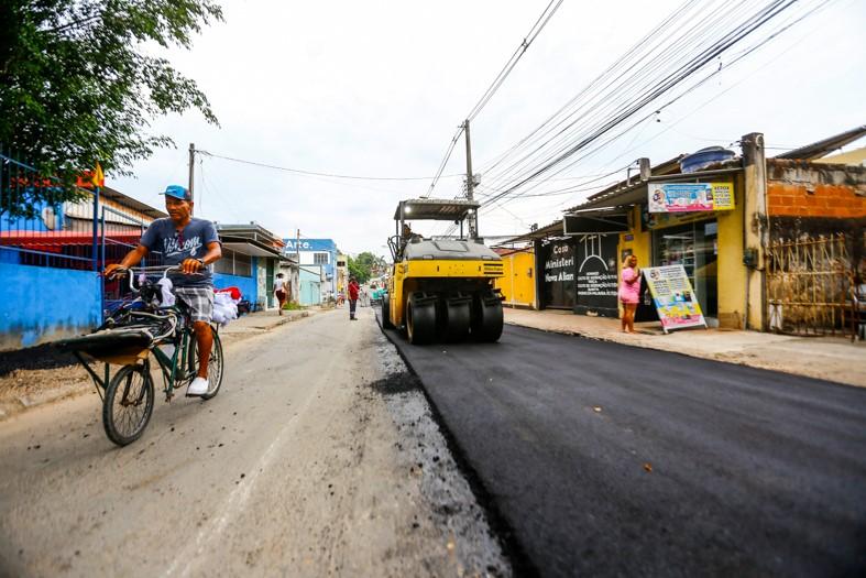 A Rua Crisântemo passou por melhorias que inclui uma nova pavimentação/Rafael Barreto/PMBR
