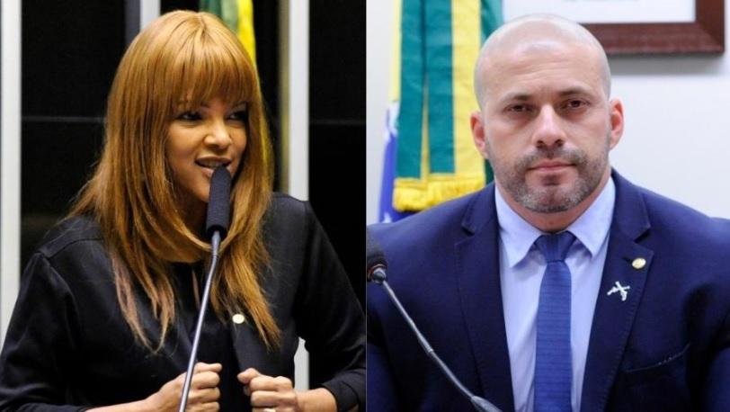 Flordelis e Daniel Silveira: julgamento de quebra de docoro/Reprodução