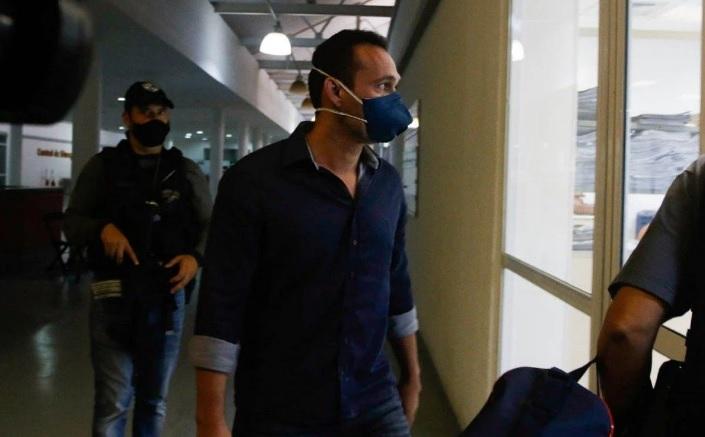 Delegado Marcelo Machado é levado para a Cidade da Polícia para prestar esclarecimentos/Reginaldo Pimenta / Agência O Dia
