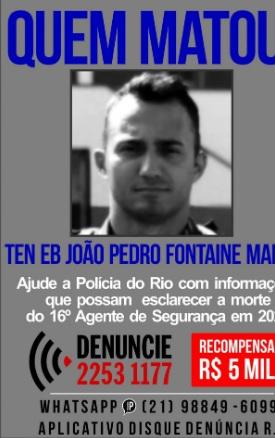 O portal dos Procurados divulgou ontem um cartaz com a foto do João Pedro/Reprodução