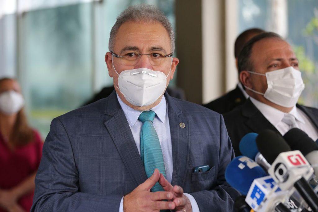 Futuro ministro, Marcelo Queiroga participou de entrega das vacinas AstraZeneca no Rio/Fábio Rodrigues Pozzebom/Agência Brasil