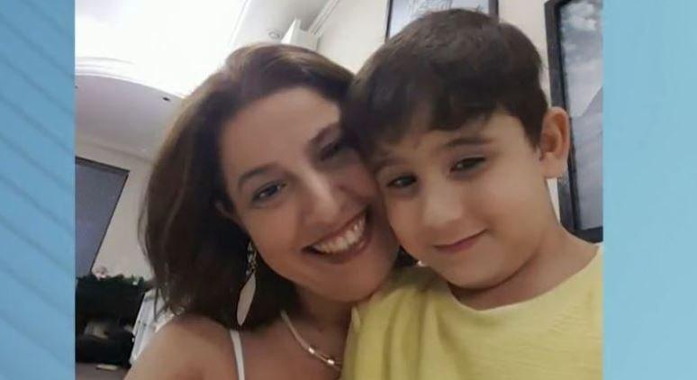 Patricia e o filho Marcelo foram surpreendidos pelo assassino/Reprodução