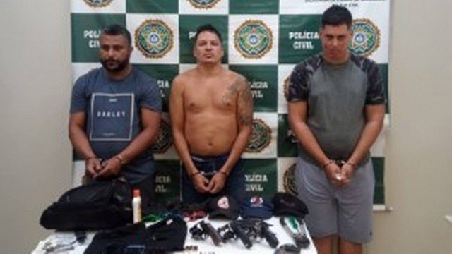 Gilberto, Juliano e Anderson estavam sendo monitorados/Reprodução
