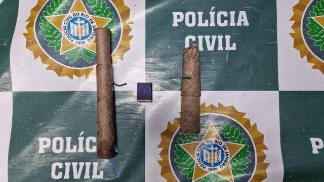 Os artefatos explosivos foram apreendidos pelos policiais/Divulgação