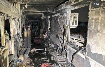 Imagem mostra que as chamas causaram destruição total/Reprodução