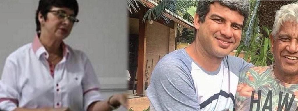 Anabal Barbosa, entre a ex-primeira-dama Sônia Oliveira e o filho Wagner: esquema fraudulento na mira da Delegacia de Defraudações/Reprodução