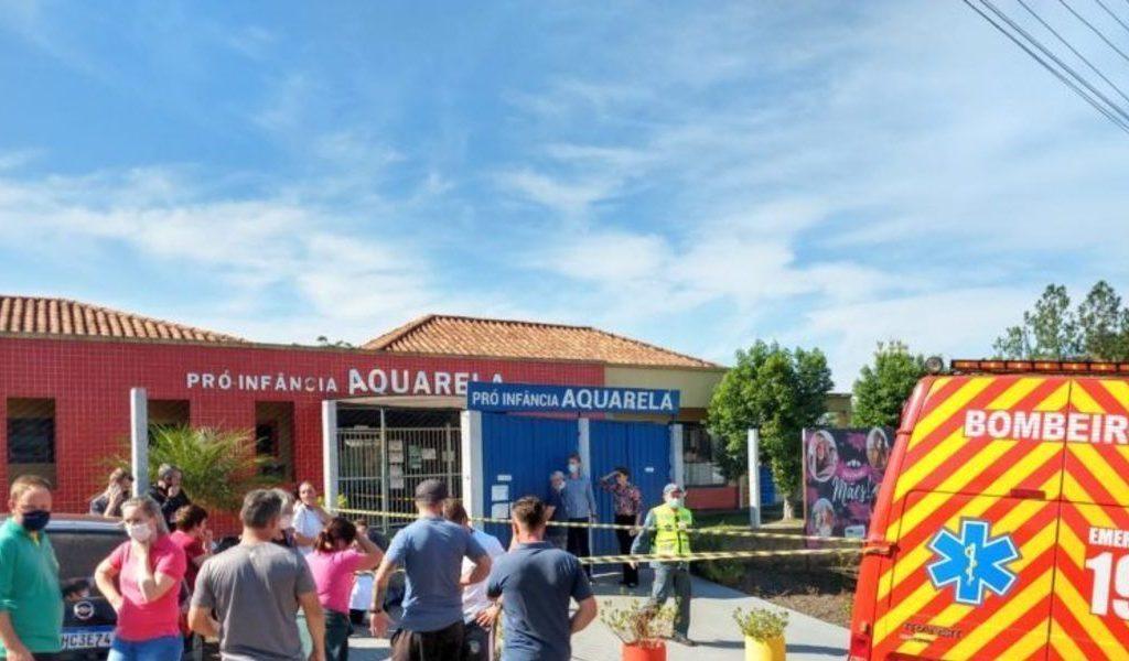 ataque à escola Aquarela, em Saudades (SC), aconteceu no dia 4 de maio/Reprodução