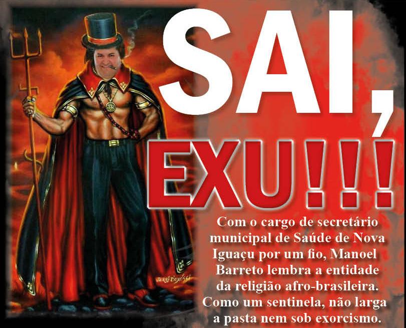 Sai, Exu! Secretário Manoel Barreto não larga a pasta nem sob exorcismo/Montagem/Hora H