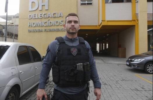Delegado Uriel Alcântara, titular da DHBF, investiga ação da quadrilha de milicianos/Reginaldo Pimenta / Agencia O Dia