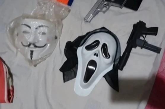 Máscaras apreendidas pela PCDFPCDF/ Divulgação