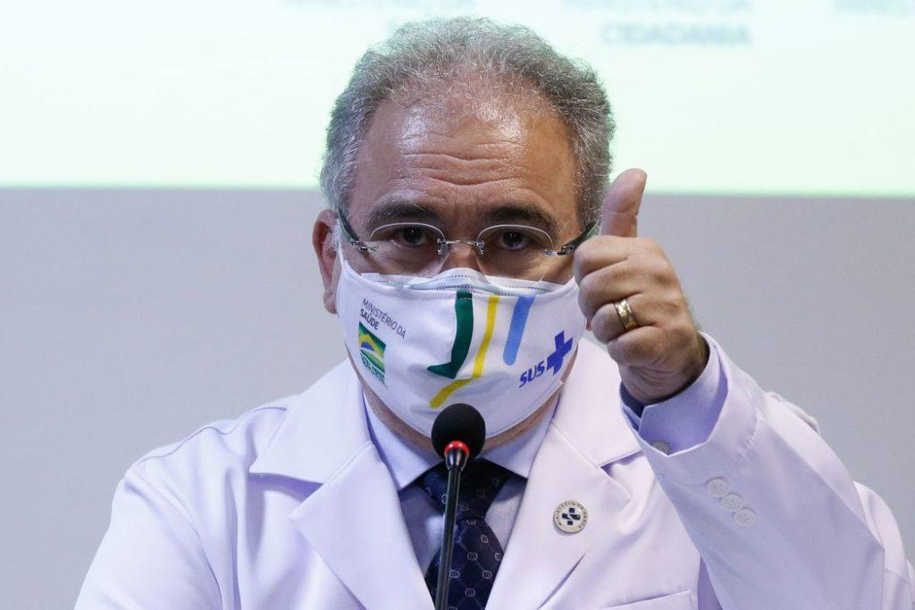 Rio de Janeiro - O ministro da Saúde Marcelo Queiroga, fala da vacinação dos atletas olímpicos brasileiros para os jogos de Tóquio, no Japão.(Fernando Frazão/Agência Brasil)