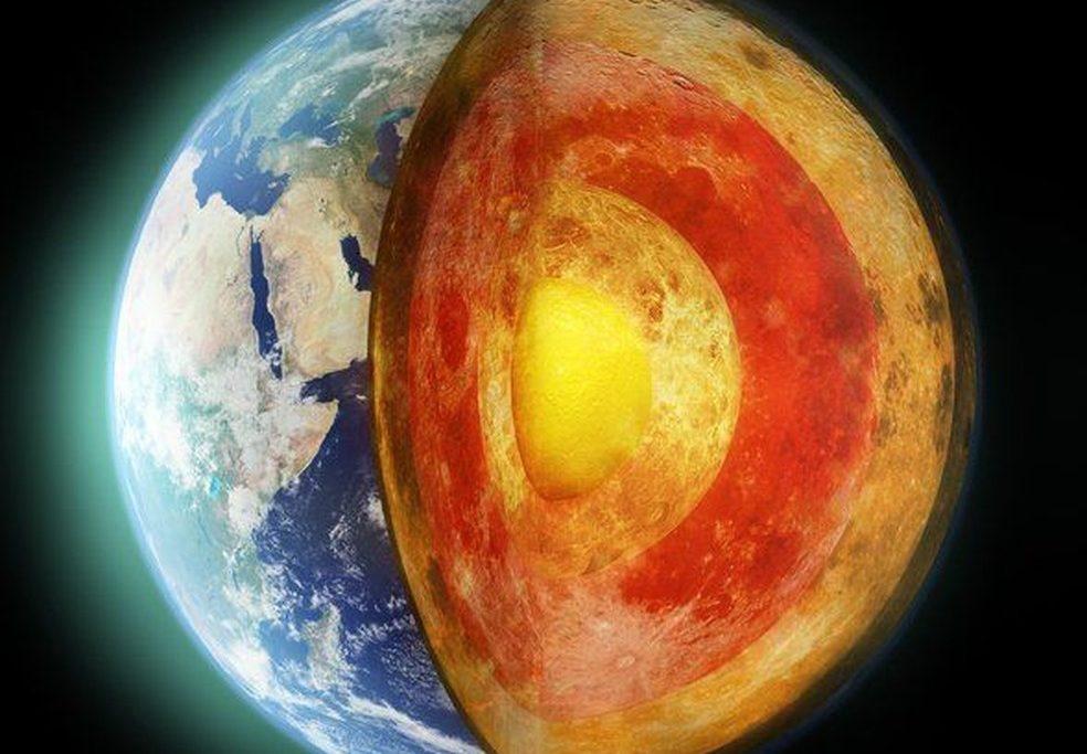 Núcleo da Terra é uma 'cápsula do tempo'/Getty via BBC