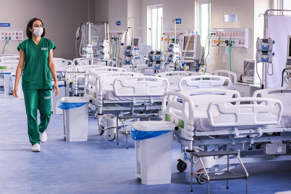 Leitos de UTI para pacientes com Covid-19 no Hospital Regional do Alto Sertão (HRAS), em Alagoas/Márcio Ferreira