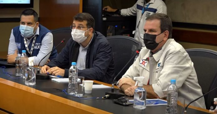 Secretário de Saúde do Rio, Daniel Soranz, e prefeito Eduardo Paes/Reprodução