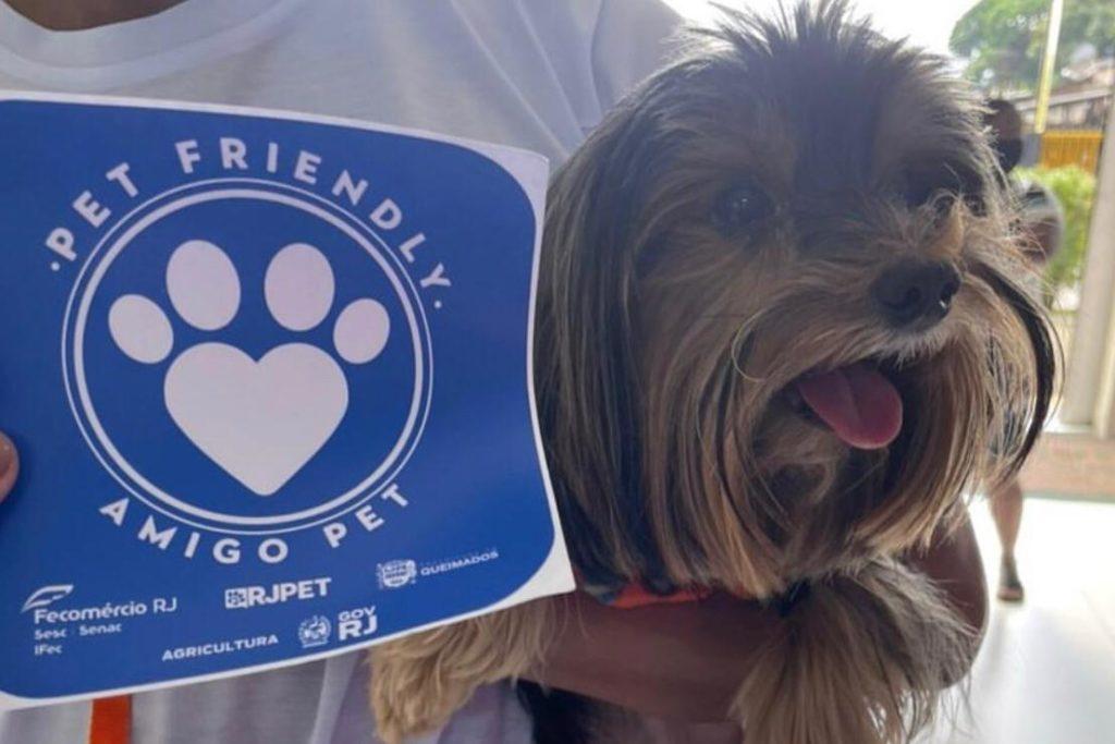 Oito lojas da cidade já se cadastraram para receber o Selo Pet Friendly/Divulgação/Governo do RJ