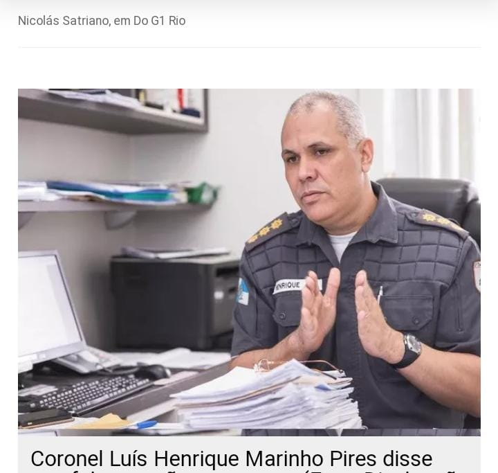 Coronel Luiz Henrique Marinho Pires assume o comando da Secretaria de Polícia Militar/Cristina Boeckel/G1