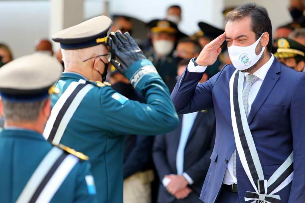 Cláudio Castro na cerimônia de posse na Academia de Polícia Militar Dom João VI/Divulgação/PMERJ