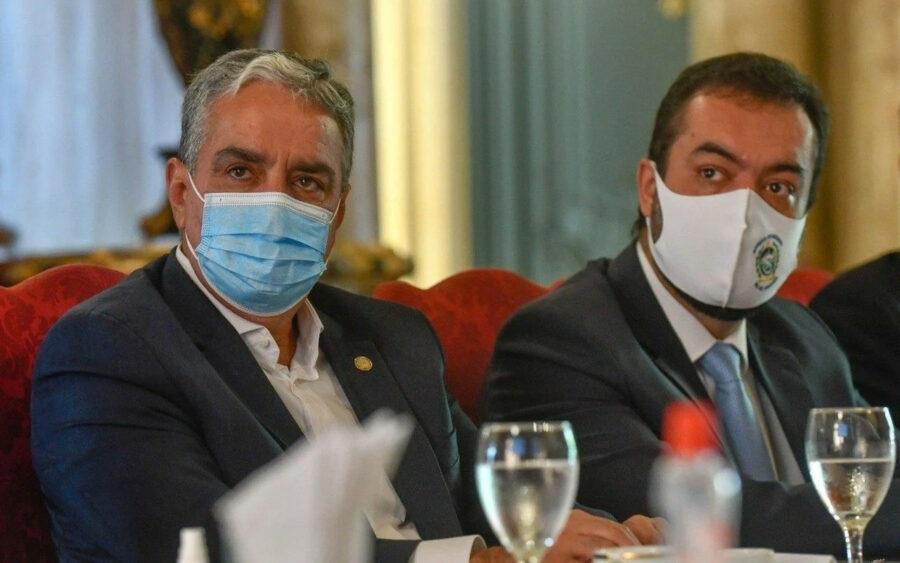 Deputado André Ceciliano (PT) e o governador Cláudio Castro: tratativas intensas para chegar a um acordo/Reprodução