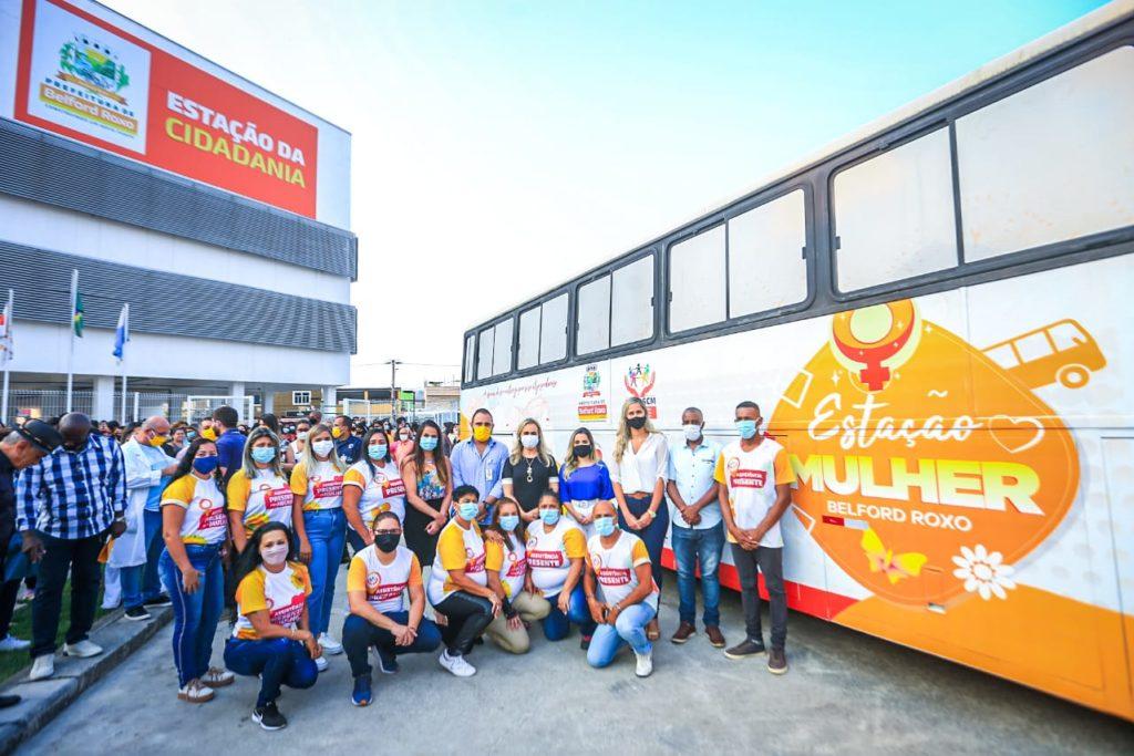 O ônibus terá diversos serviços que irá beneficiar as mulheres: deputada Daniela do Waguinho participou do lançamento do projeto/Rafael Barreto/PMBR
