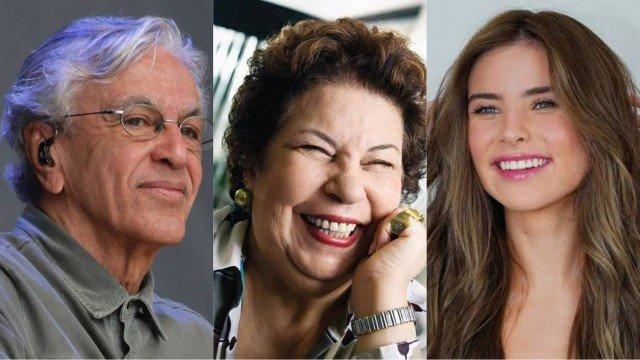 Caetano Veloso, Nana Caymmi e Giulia Be concorrem em categorias de prestígio no Grammy Latino 2021