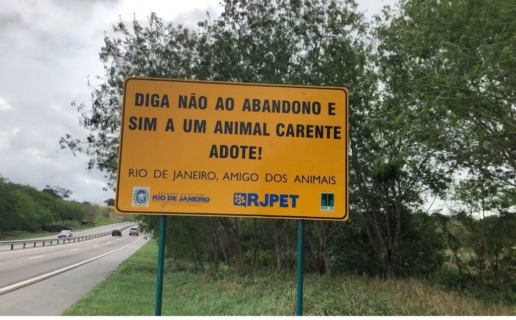 Campanha educativa tem objetivo de coibir maus tratos e incentivar adoção/Divulgação/Governo do RJ