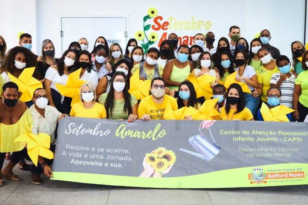 A roda de conversa contou com a participação de 40 profissionais e lembrou o Setembro Amarelo/Gilberto Rocha/PMBR