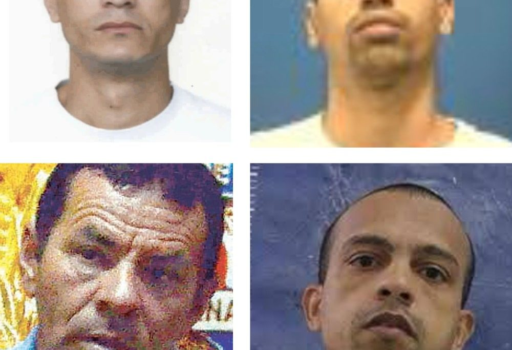 Marcinho do Turano, Bolado, Benemário e Cabeça do Sabão: supostos alvos de resgate do sequestro/Reprodução