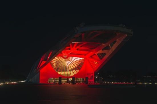 No Dia Mundial do Coração, equipamento foi iluminado de vermelho para celebrar mostra/Divulgação